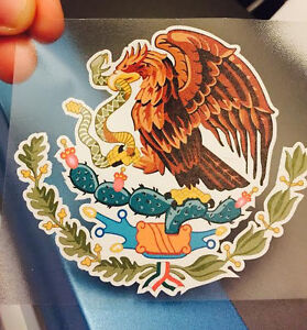 Mexican Coat Of Arms Sticker Decal Mexico Flag Car Truck Vinyl 4 X 3 75