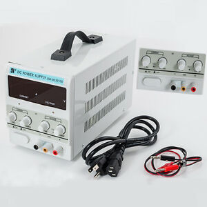 Adjustable Power Supply 30v 5a 110v Precision Variable Dc Digital Lab W clip New