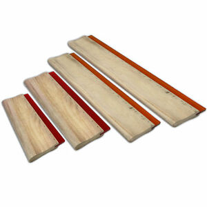 4 Pcs 16 24 33 46cm Silk Screen Printing Squeegee Ink Scraper 6 3 9 4 13 18