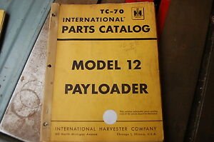 Ih International 12 Pay Loader Parts Manual Book Catalog List Spare Wheel Shop