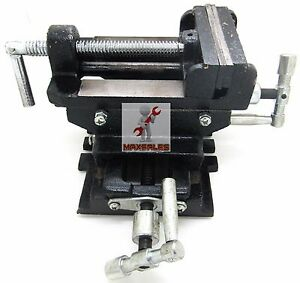 4 Cross Drill Press Vise X y Clamp Heavy Duty Machine Slide Metal Milling 2 Way