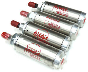 Lot Of 4 New Bimba 171 25 Pneumatic Cylinders 1 5inch Bore 1 25inch Stroke