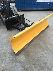 Fisher Skid Steer Mount Snow Plow Loader Snowplow 8 Foot Angle Quick Myers