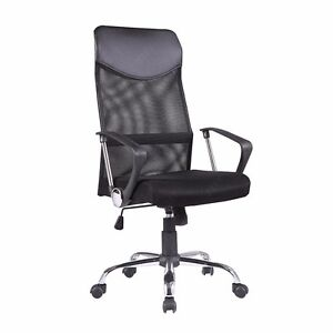 Ergonomic Mesh Executive Office Chair Swivel Computer Desk Black With High Back
