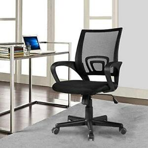 Black Mesh Office Chair Ergonomic Mid back Executive Swivel Computer Furniture