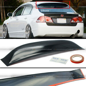 Fit 06 11 Honda Civic 4dr Sedan Abs Rear Window Roof Vent Visor Spoiler Wing
