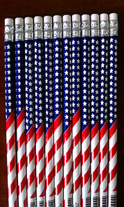 144 American Flag 2 Pencils Patriotic Back To School Us U s Usa U s a