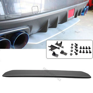 For 15 18 Subaru Wrx Sti Style Rear Bumper Lip Splitter Diffuser Unpainted Abs