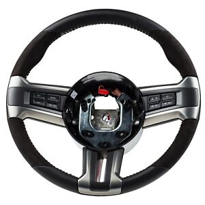 2010 2014 Ford Mustang Shelby Gt500 Steering Wheel Black Leather Oem Cr3z3600ab