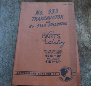 Cat Caterpillar 933 Traxcavator Parts Manual Book Track Loader Crawler Spare 42a