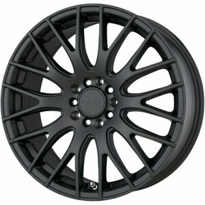Set 4 17x7 5 40 5x120 Drag Dr69 Black Wheels Rims 17 Inch 20470