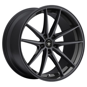 Set 4 19x8 5 30 5x114 3 5x4 5 Konig Oversteer Black Wheels rims 19 inch 74716