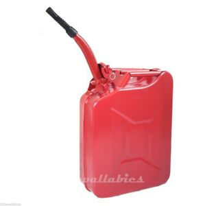 5 Gallon Nato Style 20l Red Jerry Can Oil Fuel Gas Steel Tank W Spout