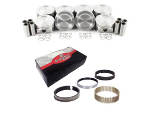 Coated Skirt Dish Pistons W Moly Rings For 1999 2004 Ford Lightning 5 4l Sohc