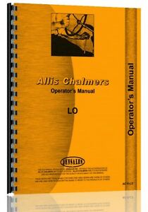 Allis Chalmers Lo Crawler Operators Manual ac o lo