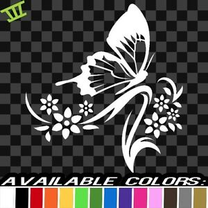 Butterfly Vinyl Sticker Decal Car Truck Bumper College Cute Laptop Mac Love