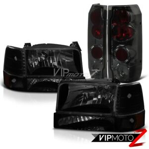 92 96 Ford F 350 Sinister Black Headlights Smokey Tail Brake Lamps Replacement