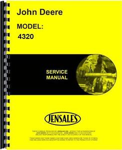 John Deere 4320 Tractor Service Manual Jd s tm1029