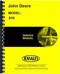 John Deere 510 Tractor Loader Backhoe Service Manual Jd s tm1039