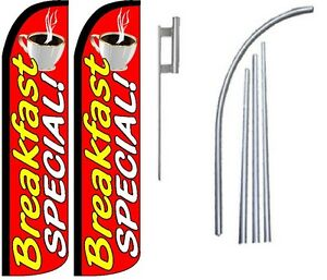Breakfast Special Standard Windless Swooper Flag With 2 Complete Kit
