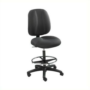 Safco Apprentice Ii Black Extended Height Drafting Chair