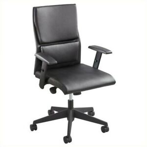 Safco Tuvi Mid Back Executive Office Chair In Black