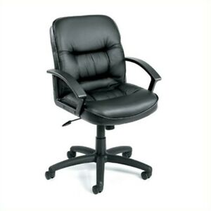 Boss Office Products Executive Mid back Leather Office Chair With Knee Tilt