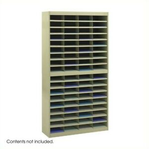 Safco E z Stor Sand Mail Organizer 72 Letter Size Compartments