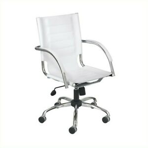 Safco Flaunt Managers Office Chair White Leather In White
