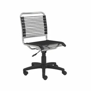 Office Chair For Computer Desk Executive Task Low Back Modern In Black aluminum