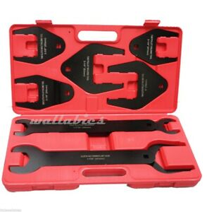 Fan Clutch Wrench Set Foreign Domestic Clutch Remover Installer Vehicle 10pc