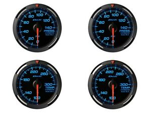 Defi Blue Racer 52mm 4 Gauges Set oil Press fuel Press oil Temp water Temp