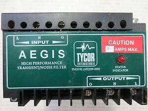 Aegis Tycor Eaton Ags 120 5 x Transient Noise Filter 120 Vac 5 Amp Ags1205x