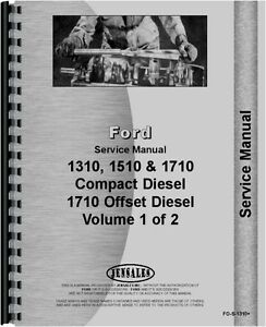 Ford 1310 1510 1710 Tractor Service Manual fo s 1310