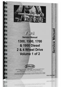 Ford 1300 1500 1700 1900 Tractor Service Manual Fo s 1300 1500