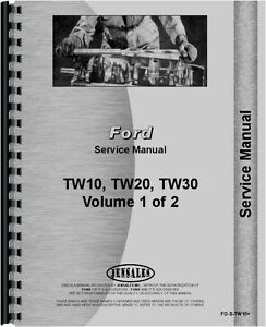 Ford Tw10 Tw 20 Tw 30 Tractor Service Manual fo s tw10