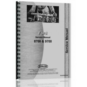 Ford 8700 9700 Tractor Service Manual fo s 8700 9700