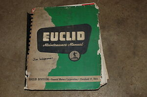 Euclid Model Td Mining Dump Truck Maintenance Service Repair Manual Book Rock 63