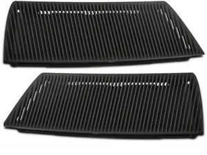 2003 2004 Ford Mustang Svt Cobra Black Hood Grille Heat Extractor Vents Pair Oem