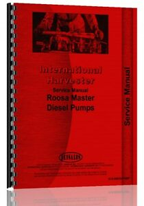 International Ih Diesel Pump 150 175 250 250b Roosa Pump Service Manual
