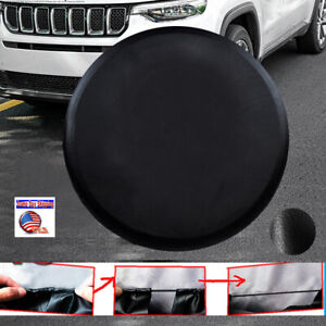 Black Pu Leather Spare Wheel Tire Cover For Jeep Wrangler Liberty 16 2002 2011