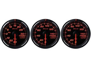 Defi Red Racer 60mm 3 Gauges Set turbo Boost oil Pressure fuel Pressure