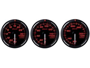 Defi Red Racer 52mm 3 Gauges Set turbo Boost oil Pressure oil Temperature