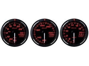 Defi Red Racer 52mm 3 Gauges Set turbo Boost water Temperature egt