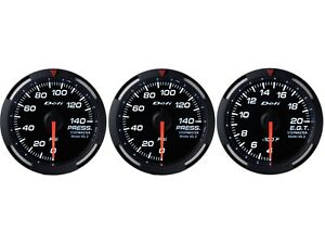 Defi White Racer 60mm 3 Gauges Set oil Pressure fuel Pressure exhaust Gas Temp