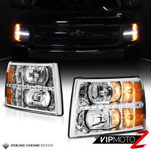 2007 2013 Chevy Silverado 1500 2500hd 3500hd Led Smd Drl Headlights Headlamps