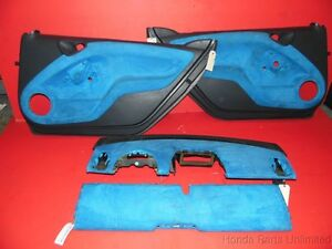 08 14 Smart Car Fortwo Oem Complete Door Panels Dashboard And Covers Black blue