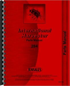 International Harvester 284 Tractor Parts Manual Ih p 284