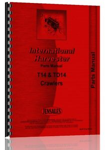 International Harvester Crawler Parts Manual ih p t14 Td14