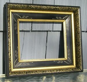 Rare Antique Aesthetic Carved Eastlake Victorian Gold Gilt Picture Frame 8 X 10